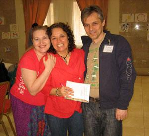 Диана Медина (Diana Medina) в центре, и Попроцкие.
